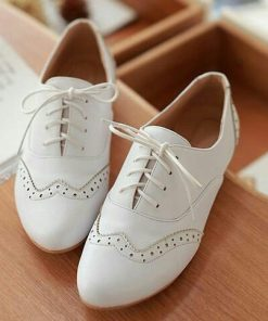 Women's White Brogues